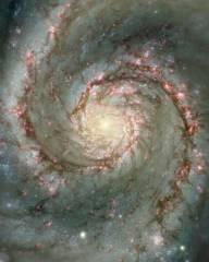 Спиральная галактика с двумя рукавами